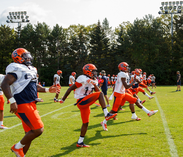 Syracuse football training camp blog: Defensive ends return, Servais comes back